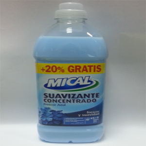SUAVIZANTE MICAL CONCENTRADO FRESCOR AZUL 1,5L