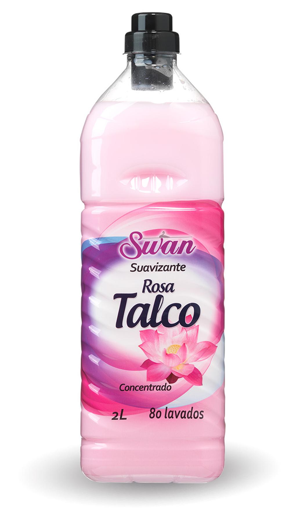 SUAVIZANTE SWAN CONCENTRADO TALCO 80 LAVADOS 2L